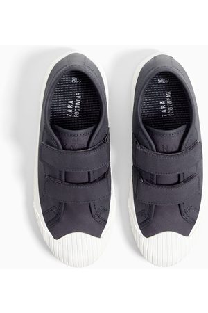 Zara PLIMSOLLS WITH STRAPS AND SLOGAN SOLES