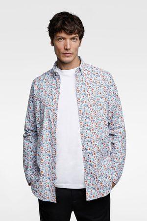 Zara Shirts - FLORAL PRINT OXFORD SHIRT
