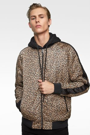 Zara Bomber Jackets - ANIMAL PRINT BOMBER JACKET