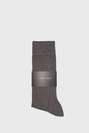 Zara Socks - PREMIUM QUALITY RIBBED MERCERISED COTTON SOCKS