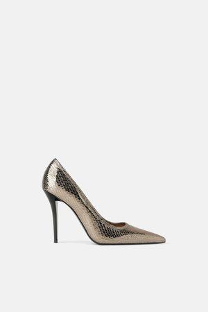 Zara Women Heels - SHINY ANIMAL PRINT HIGH HEEL SHOES