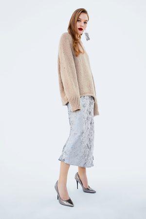 Zara SHINY ANIMAL PRINT HIGH HEEL SHOES