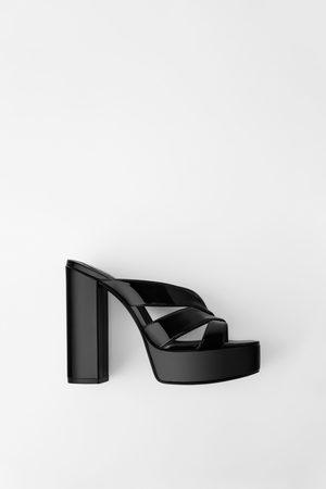 Zara HIGH-HEEL PLATFORM SANDALS
