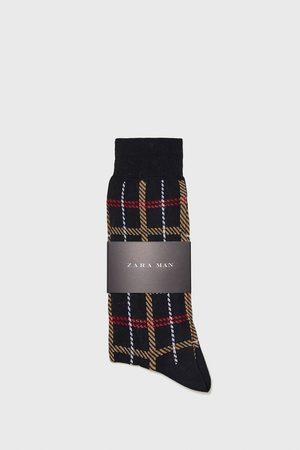 Zara CHECK JACQUARD SOCKS