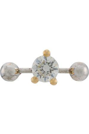 DELFINA DELETTREZ 18kt yellow and white Two In One diamond earring