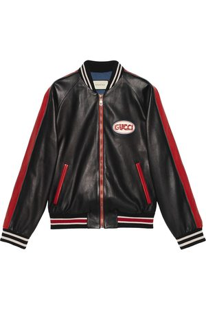 Gucci Leather bomber with pool patch