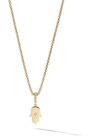 David Yurman 18kt yellow gold Amulets diamond Hamsa pendant