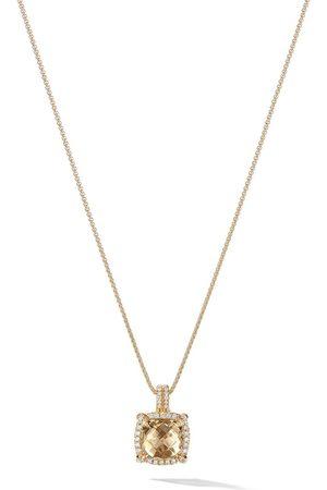 David Yurman 18kt yellow gold Châtelaine citrine and diamond pendant