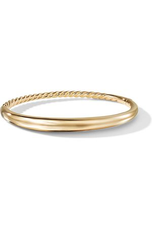 David Yurman 18kt yellow gold Pure Form smooth bangle