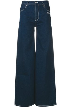 OFF-WHITE Women Bootcut & Flares - Flared logo jeans