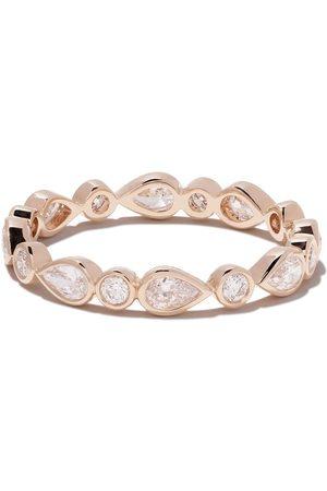De Beers 18kt Petal diamond band