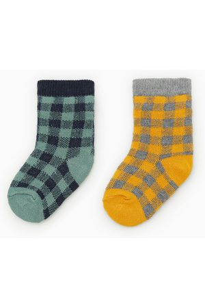 Zara 2-PACK OF GINGHAM SOCKS