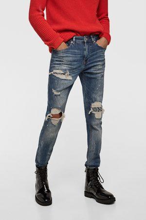 Zara Skinny - SKINNY JEANS WITH BANDANNA PATCHES