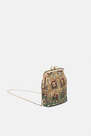 Zara BEADED CROSSBODY BAG WITH KISS LOCK CLOSURE