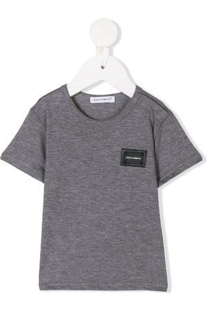 Dolce & Gabbana Baby Short Sleeve - Logo plaque T-shirt
