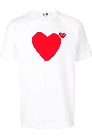 Comme des Garçons Logo heart printed T-shirt