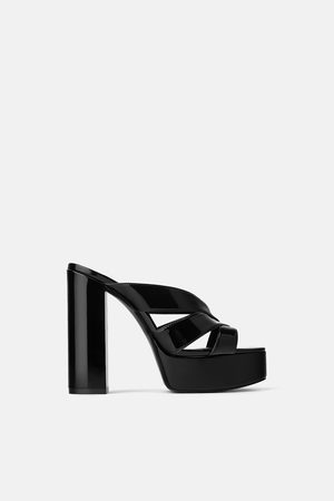 048295a7ddb SALE. Zara HIGH-HEEL PLATFORM SANDALS