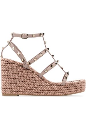 VALENTINO Garavani Rockstud 120 leather wedges