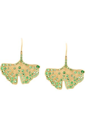 Aurélie Bidermann 18kt yellow Ginkgo tsavorite earrings