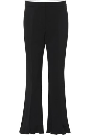 Stella McCartney High-rise flared stretch-wool pants
