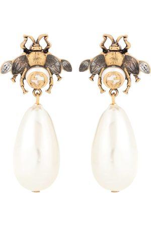 Gucci Women Earrings - Brass and crystal earrings