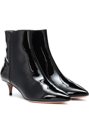 Aquazzura Quant 45 patent leather ankle boots