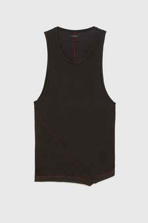 Zara LONG TANK TOP WITH SEAM DETAIL