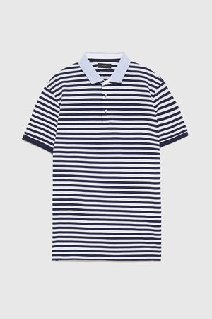 Zara POLO SHIRT WITH CONTRASTING TRIMS