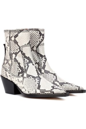 Joseph Printed leather ankle boots