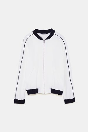 Zara BOMBER JACKET WITH CONTRASTING TRIMS