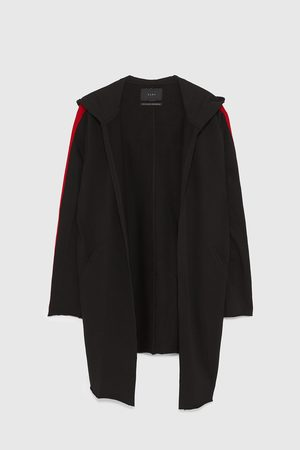 Zara HOODED COTTON CAPE