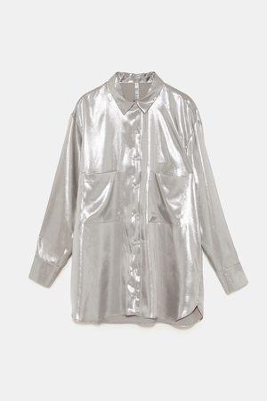Zara METALLIC COLOURED SHIRT