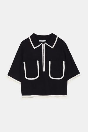 Zara POLO SHIRT WITH CONTRASTING PIPING
