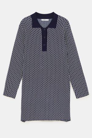 Zara LOGO POLO-STYLE DRESS