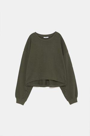 Zara Sweatshirts - GATHERED SWEATSHIRT