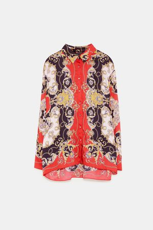 Zara PRINTED SHIRT