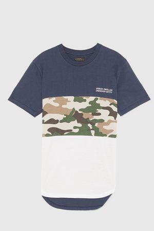 Zara T-shirts - COLOUR BLOCK CAMOUFLAGE T-SHIRT