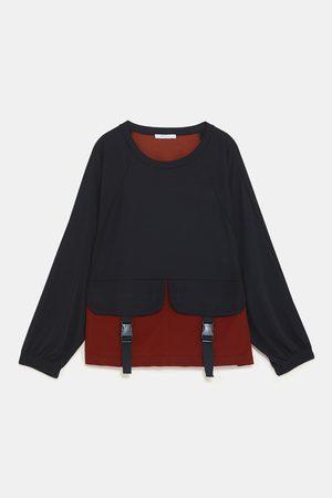 Zara COLOUR BLOCK SWEATSHIRT