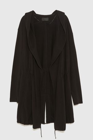 Zara Ponchos - ASYMMETRIC HOODED CAPE