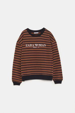 Zara STRIPED LOGO SWEATSHIRT