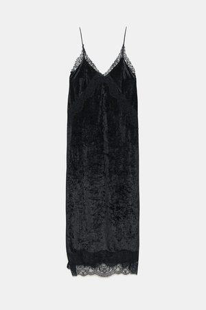 Zara VELVET CAMISOLE DRESS