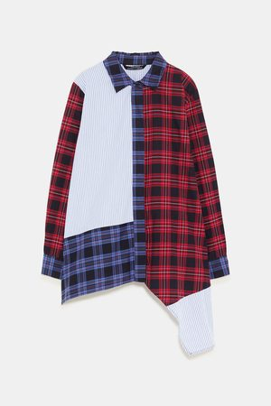 Zara PATCHWORK SHIRT
