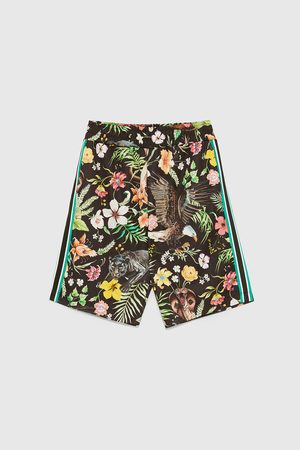 Zara TROPICAL PRINT BERMUDA SHORTS