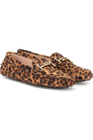 Tod's Gommino Double T calf hair loafers