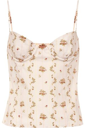 BROCK COLLECTION Tops - Oboe floral-printed cotton top