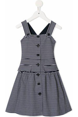 Emporio Armani Girls Casual Dresses - Striped flared dress