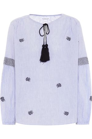 Velvet Aimee embroidered cotton top