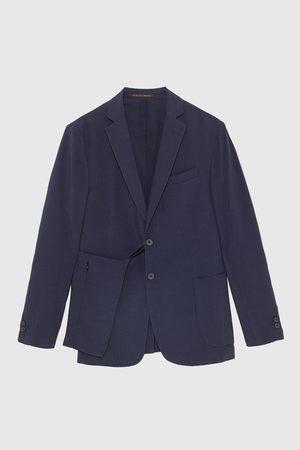 Zara Technical seersucker blazer