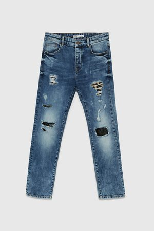 Zara Ripped jeans with patches