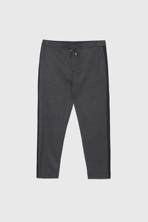 Zara Men Trousers - Jogging trousers with side stripes